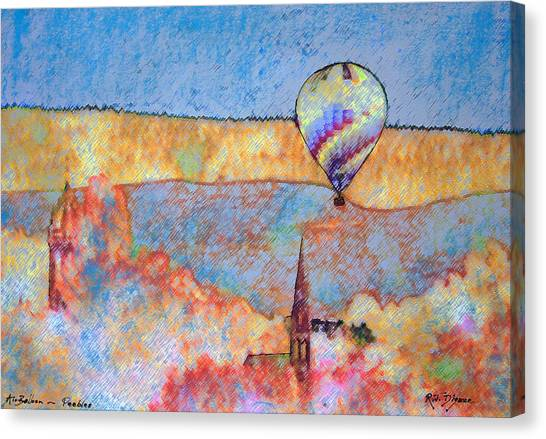 Air Balloon Over Peeebles Canvas Print