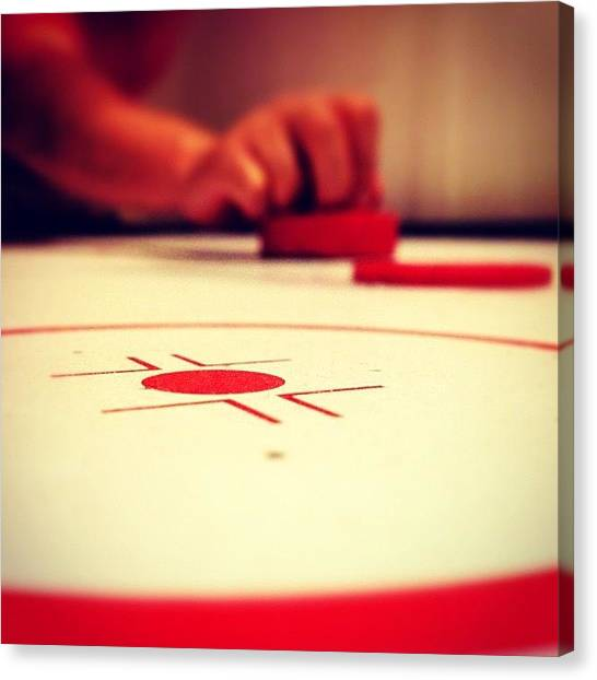 Tables Canvas Print - Air Hockey by Wolf Stumpf