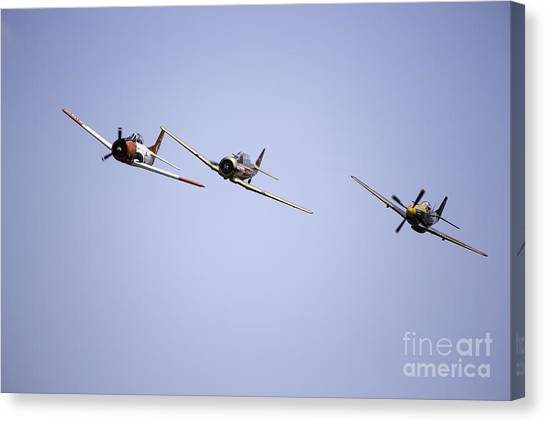 Air Show 11 Canvas Print by Darcy Evans