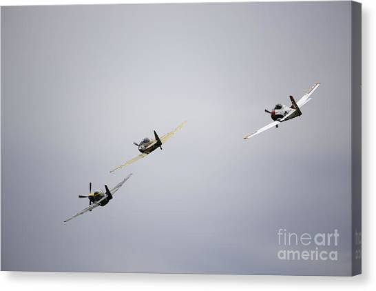 Air Show 13 Canvas Print by Darcy Evans