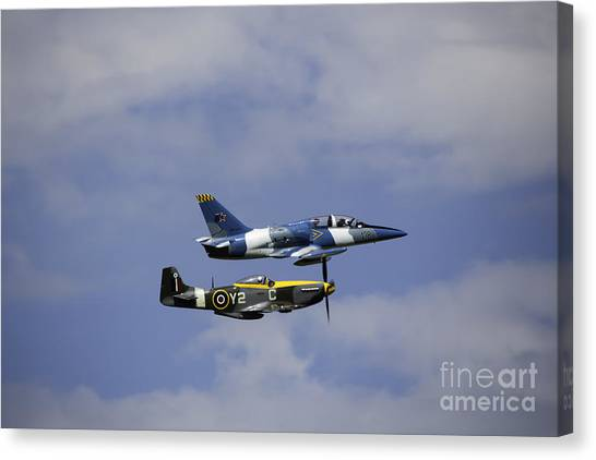 Air Show 2 Canvas Print by Darcy Evans