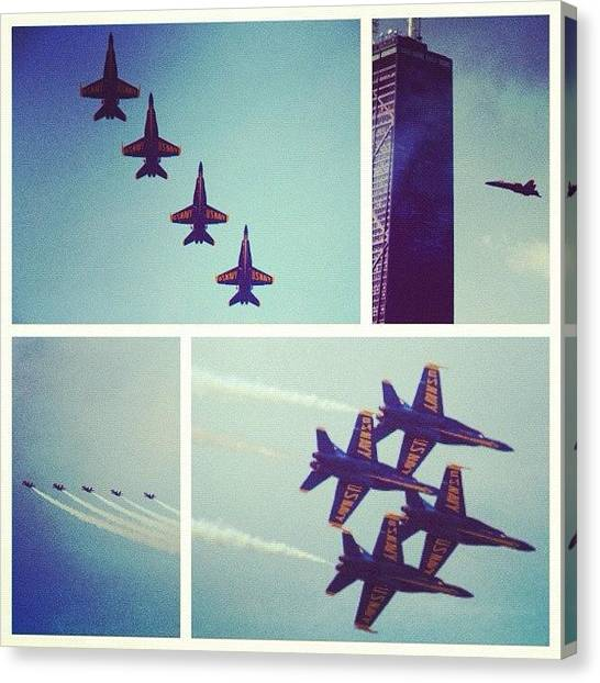 Jets Canvas Print - Air Show At Navy Pier #airshow by Xander N