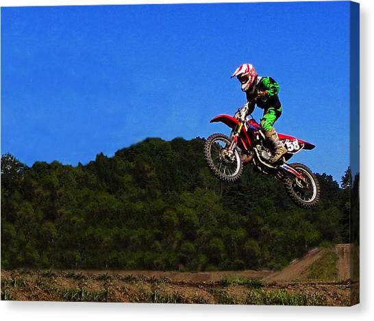 Dirt Bikes Canvas Print - Air Time  by David Dehner