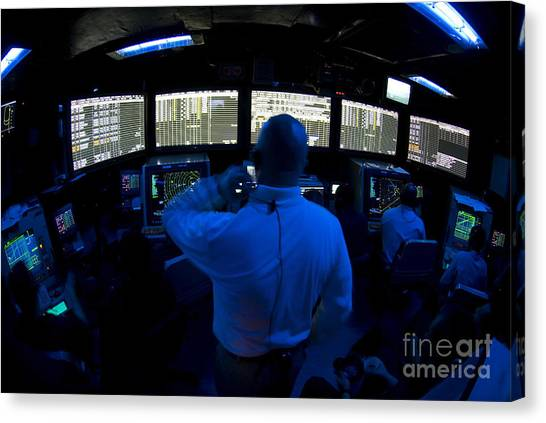 Air Traffic Control Canvas Print - Air Traffic Controller Watches by Stocktrek Images