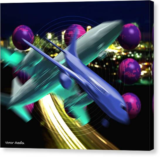 Air Traffic Control Canvas Print - Air Travel by Victor Habbick Visions