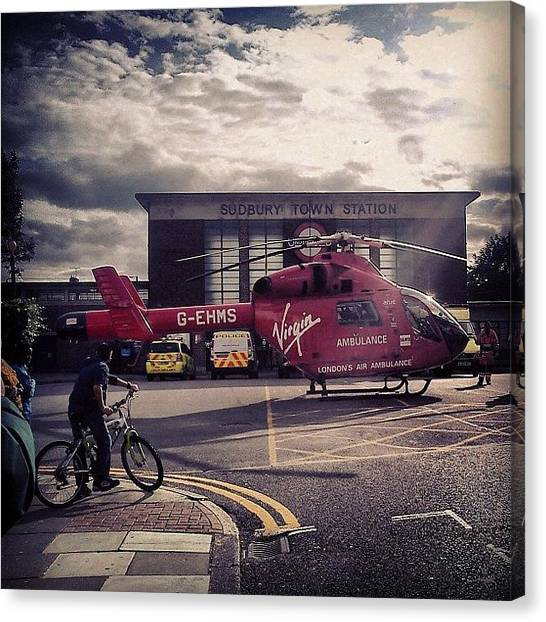 Helicopters Canvas Print - #airambulance #ambulance #chopper by Dhaval Patel