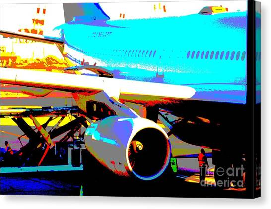 Aircraft On The Ground Canvas Print
