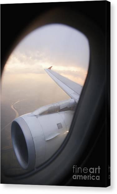 Air Traffic Control Canvas Print - Airplane Engine by Shannon Fagan