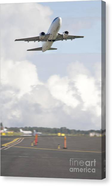 Airplane Taking Off Canvas Print by Jaak Nilson