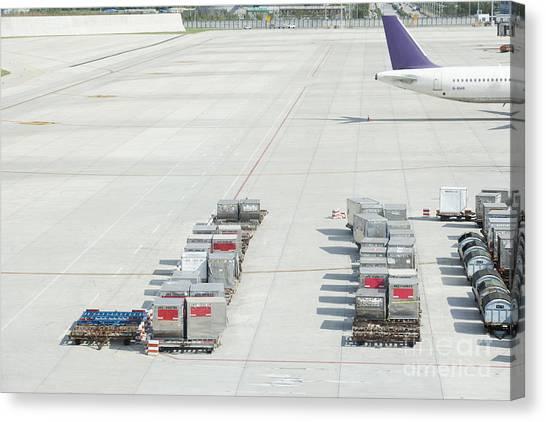 Air Traffic Control Canvas Print - Airport Tarmac by Shannon Fagan