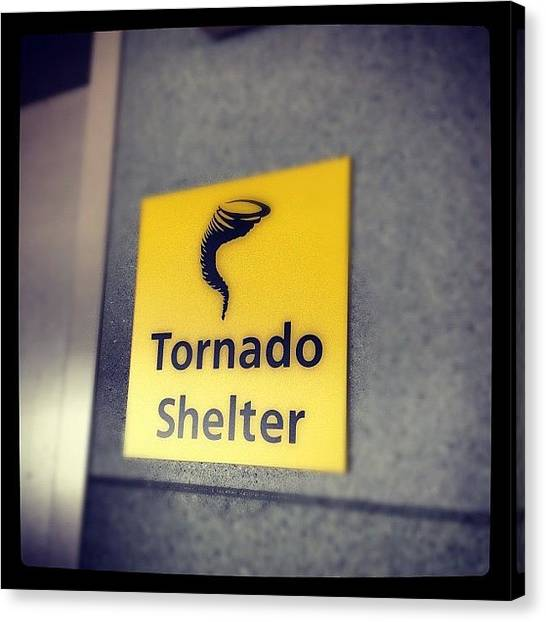 Tornadoes Canvas Print - #airport #tornadoshelter by Todd Davis