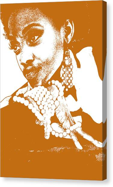 Aisha Brown Canvas Print by Naxart Studio