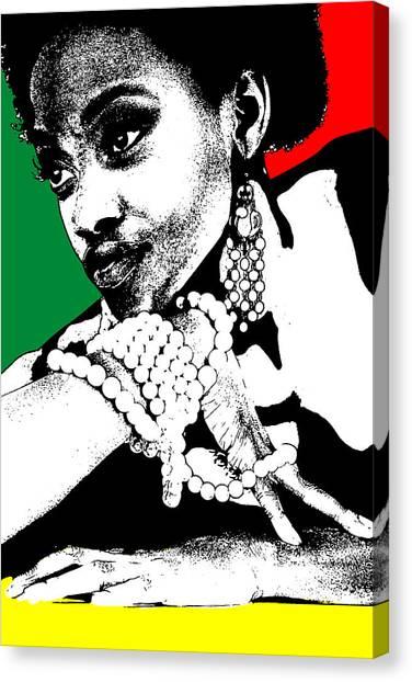 Jamaican Canvas Print - Aisha Jamaica by Naxart Studio
