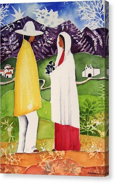 Al Empezar Canvas Print by Regina Ammerman