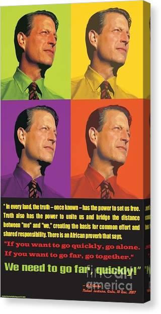 Al Gore Canvas Print - Al Gore Pop Art Poster by Theodora Brown