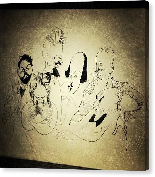 Drawing Canvas Print - Al Hirschfeld's Original Drawing For by Natasha Marco