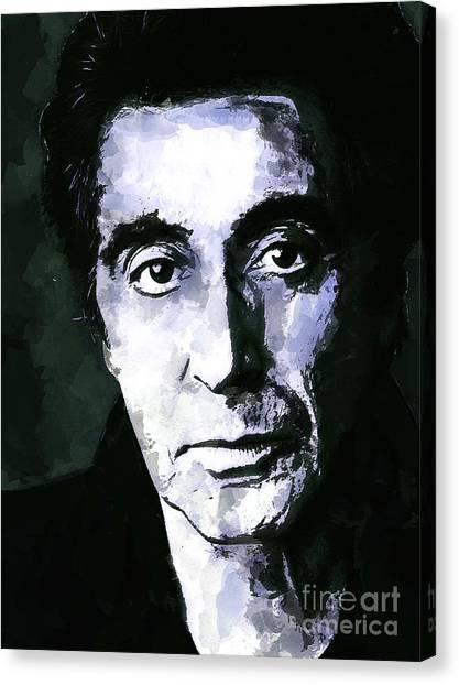 Al Pacino  Canvas Print by Andrzej Szczerski