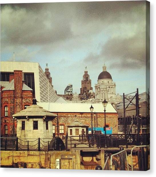 Follow Canvas Print - #albertdock #liverpool #city #uk by Abdelrahman Alawwad
