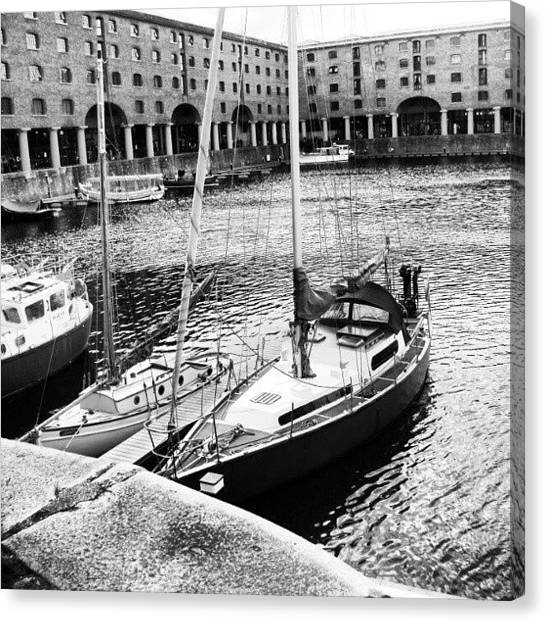 Rivers Canvas Print - #albertdock #liverpool #harbor #boat by Abdelrahman Alawwad