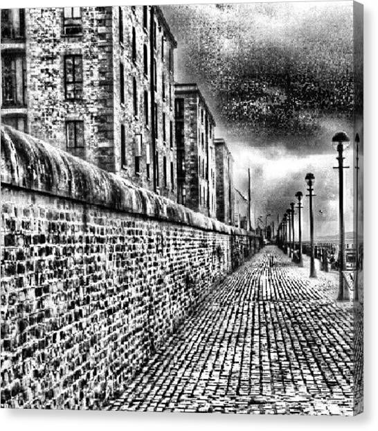 Streets Canvas Print - #albertduck #liverpool #sky #cloudy by Abdelrahman Alawwad