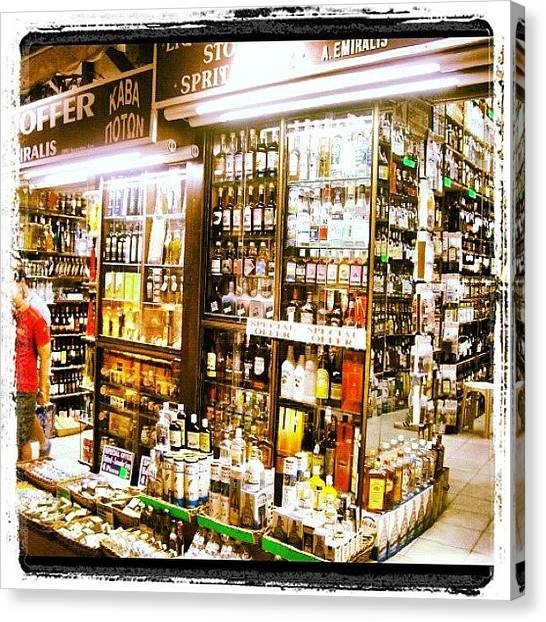 Gin Canvas Print - #alcohol #loads #bottles #spirits #shop by Matt Laity