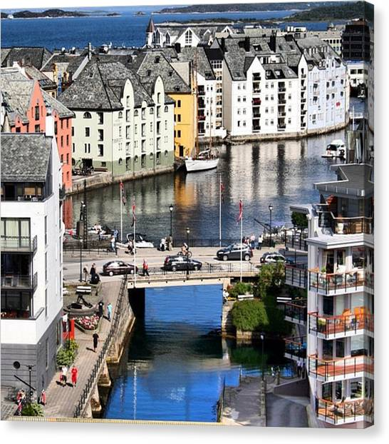 Seas Canvas Print - Alesund by Luisa Azzolini