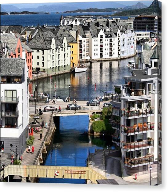 Seas Canvas Print - Alesund-norway by Luisa Azzolini