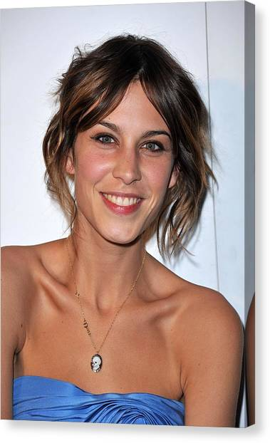 Alexa Chung At Arrivals For The Whitney Canvas Print by Everett
