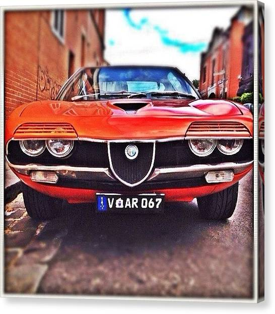 Grills Canvas Print - #alfa #romeo #alfaromeo #car #old #sick by Luke Fuda