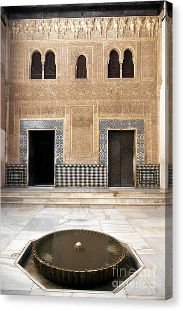 Alhambra Canvas Print - Alhambra Inner Courtyard by Jane Rix