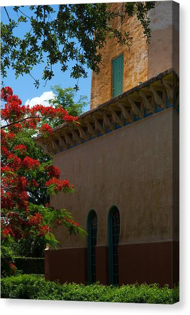 Alhambra Water Tower Windows And Door Canvas Print