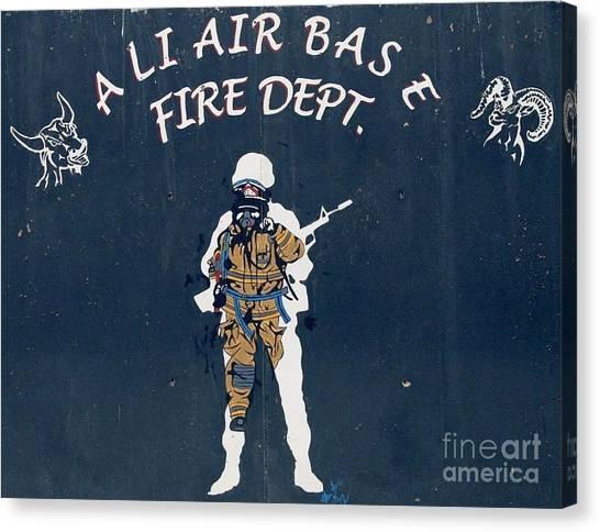 Ali Air Base Fd Canvas Print by Unknown