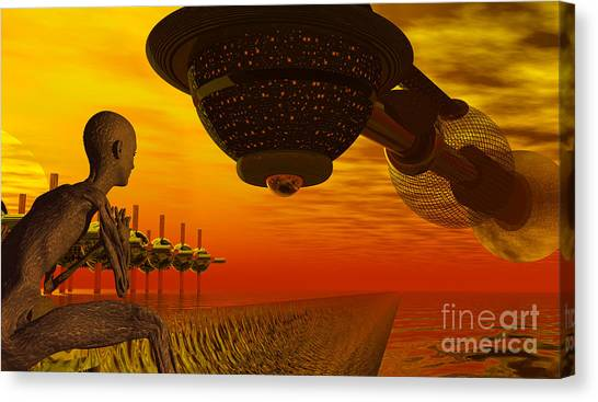 Alien Homecoming Canvas Print
