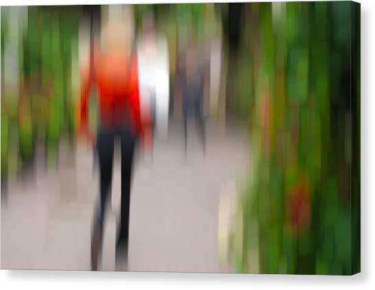 Alive In The City 2 -walking The Dog Canvas Print