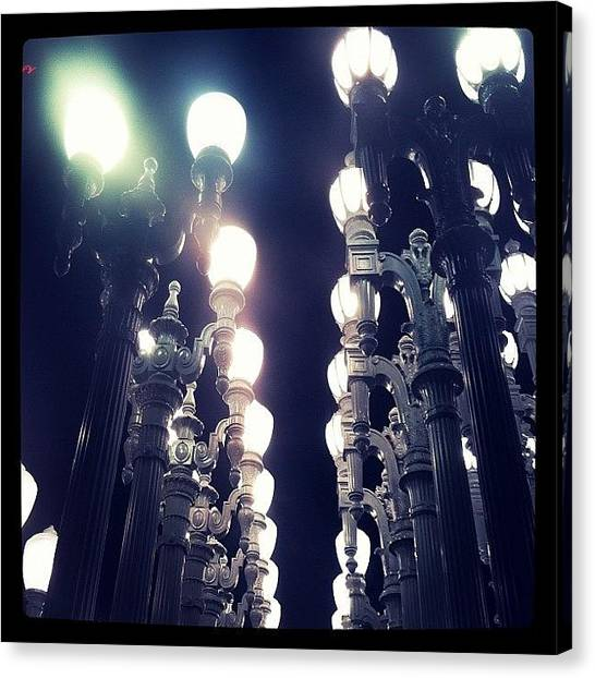 Installation Art Canvas Print - All Of The Lights by Mooj A