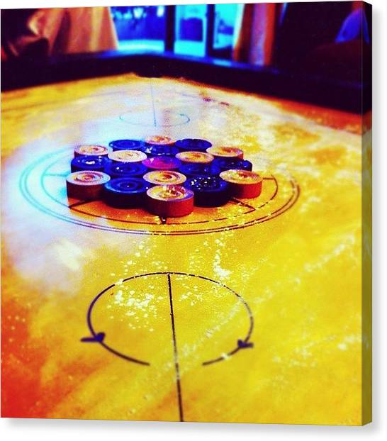 Indian Canvas Print - All Powdered And Ready To Play #carrom by Priyanka Boghani