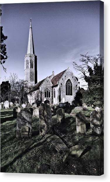 All Saints Wickham Market Canvas Print by Darren Burroughs