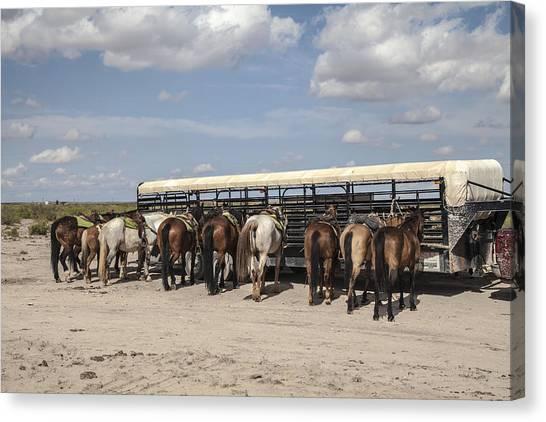 Brown Ranch Trail Canvas Print - All Terrain Vehicles At Rest by Ralph Brannan