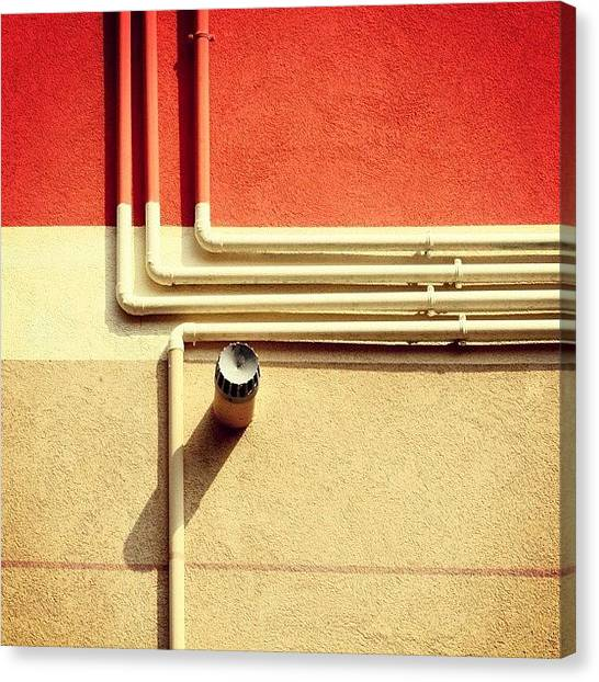 Geometry Canvas Print - All That Jazz #geometry #color #pipes by A Rey