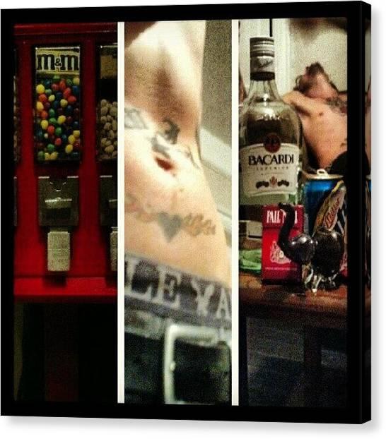 Liquor Canvas Print - All The Good Things In by Herlan Blissett-patrick