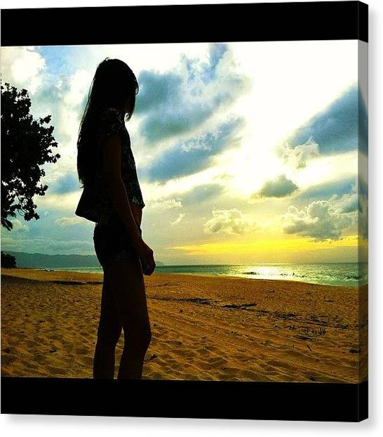 Sunrise Horizon Canvas Print - All The Loudest Voices Are Never Right by Caden Gusman