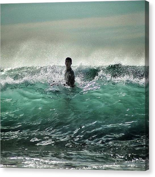 Ocean Life Canvas Print - All Time Favorite Beach Shot, In by Loghan Call