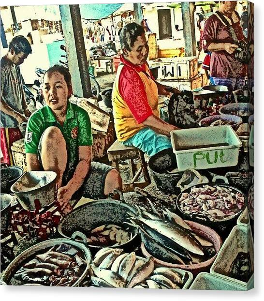 Salmon Canvas Print - All You Can Fish... #fish #market by Ikhwan Akbar