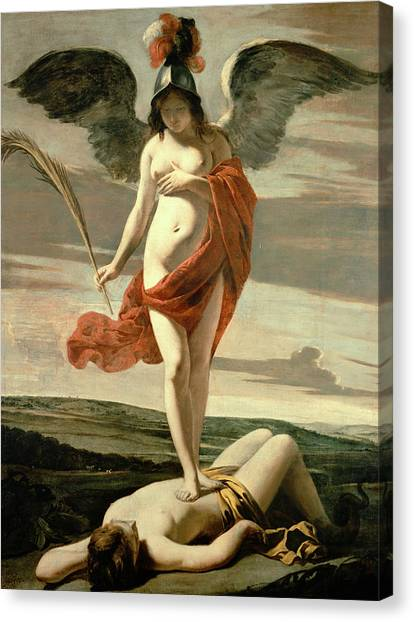 Le Louvre Canvas Print - Allegory Of Victory by Louis Le Nain