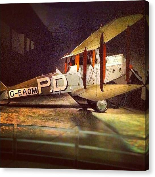 Biplane Canvas Print - Allied Bi-plane by Brent McGilvary