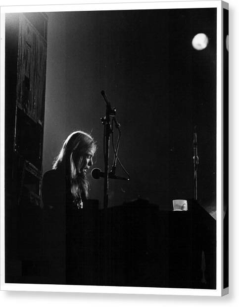 The Allman Brothers Canvas Print - Allman Brothers Greg Allman In Concert by Don Struke