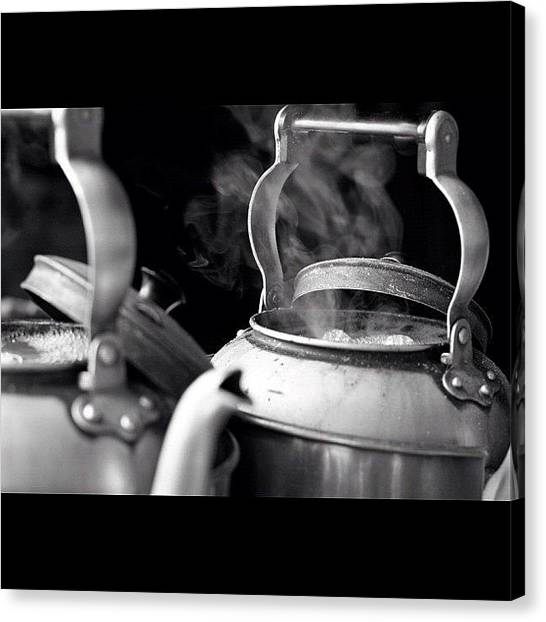 Tea Pot Canvas Print - #all_shots #blackandwhite #bangkok by Phaisal Guladee
