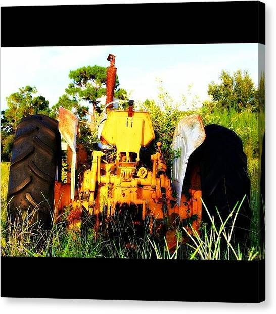 Tractors Canvas Print - #all_shots #tractor #bestoftheday by Lisa Yow