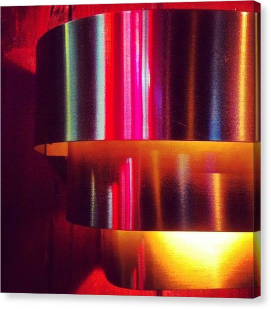 Foul Canvas Print - #alltheprettycolors #lights #neon #bar by T C