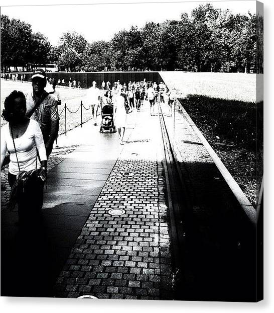 Vietnam War Canvas Print - Almost The Whole #vietnam #wall by Max Guzzo